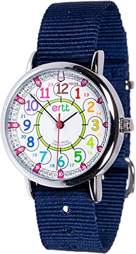 EasyRead Time Teacher ERW-COL-24-NB Montre d'apprentissage pour garçons