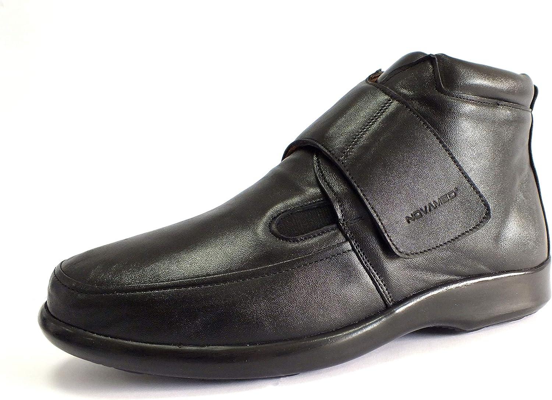 NOVAMED Herren Orthopdie Kurzstiefel aus Leder   für Diabetiker & Rheumatiker, Diabetischer orthopdischer Schuh