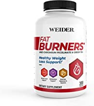 New Packaging Weider FAT BURNERS Healthy Weight Loss Energy Support with Chromium Picolinate Green Tea Extract Kola Nut Cayenne Cinnamon Powder 2 MONTH SUPPLY Estimated Price : £ 37,86