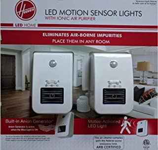 Hoover LED Motion Sensor Lights with Ionic Air Purifier, 2Pk
