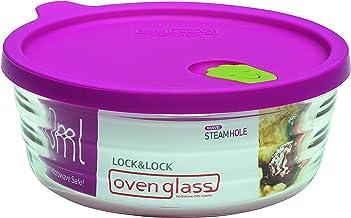 Lock & Lock LLG761 vidrio oval para microondas y horno, vidrio, transparente, 14.3 X 6.4 X 6.4 cm