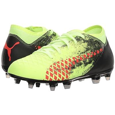 Puma Kids Future 18.4 FG/AG Soccer (Big Kid) (Fizzy Yellow/Red Blast/Puma Black) Kids Shoes
