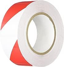 Heskins FLOOR2A Red and White Tapeline Floor Marking Tape, 98' Length, 2