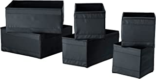 Ikea Drawer Boxes Organizers Storage Bins, Black, Set of 12, Skubb