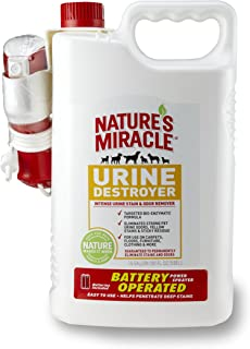 Nature's Miracle Stain & Odor Remover, Urine Destroyer, Power Sprayer w/ Batteries, 1.5 Gallon (P-5788)