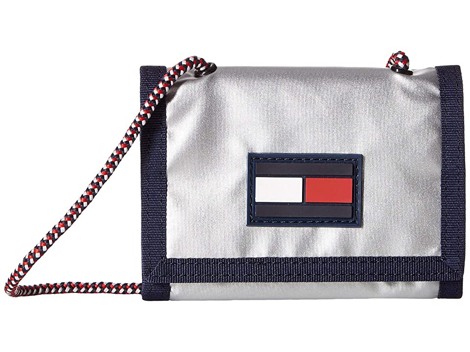 Tommy Hilfiger Leah Trifold Wallet (Silver) Wallet Handbags