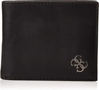 GUESS Men's Wallet with Coin Pocket, Black - 31GUE13154