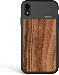 iPhone Xr Case || Moment Photo Case in Walnut Wood - Protective, Durable, Wrist Strap Friendly case for Camera Lovers.