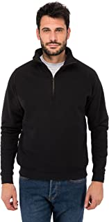 Fruit of the Loom Men's Zip Neck Sweat Sweatshirt