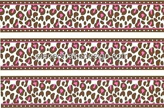 Whimsical Practicality Pink Cheetah Print Cake Border Edible Image Cake Topper