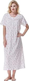 فساتين نوم KeyOcean للنساء، 100% قطن ناعم خفيف الوزن ومريح ملابس نوم مريحة
