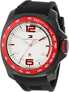 Tommy Hilfiger 1790854 Sport Black IP Silicon Watch