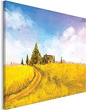 Revolio - Cuadro en Lienzo - impresión artística - Decoracion de Pared - Tamaño: 70x70 cm - casa Campo Amarillo