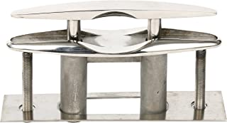 Amarine Made Boat Marine Stainless Steel 316 Pull up Cleat Flush Mount Cleat Lift - 6 Inch