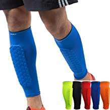 HiRui Soccer Shin Guards Shin Pads for Kids Youth Adult, Calf Compression Sleeve with Honeycomb Pads, Support for Shin Spl...