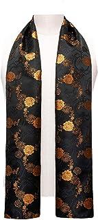 "YOHOWA Mens/Womens Lightweight Silk Scarf Fashion Print Paisley Scarves Neckerchief Shawl Autumn Winter 63""x20"""