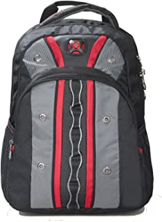 SwissGear Valve Tablet Ready Backpack Laptop Case Red Gray NWT