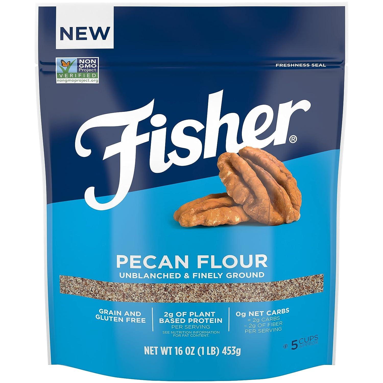 Fisher Pecan Flour Financial sales Store sale 16 Ounces Naturally Preserv Gluten No Free