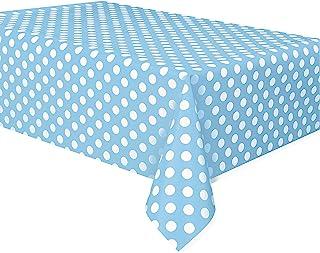 Mantel de Plástico a Lunares - 2,74 m x 1,37 m - Azul Claro