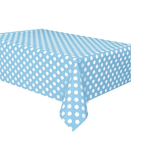 Baby Pale Blue Table Cover Large Rectangle Plastic Tablecloth