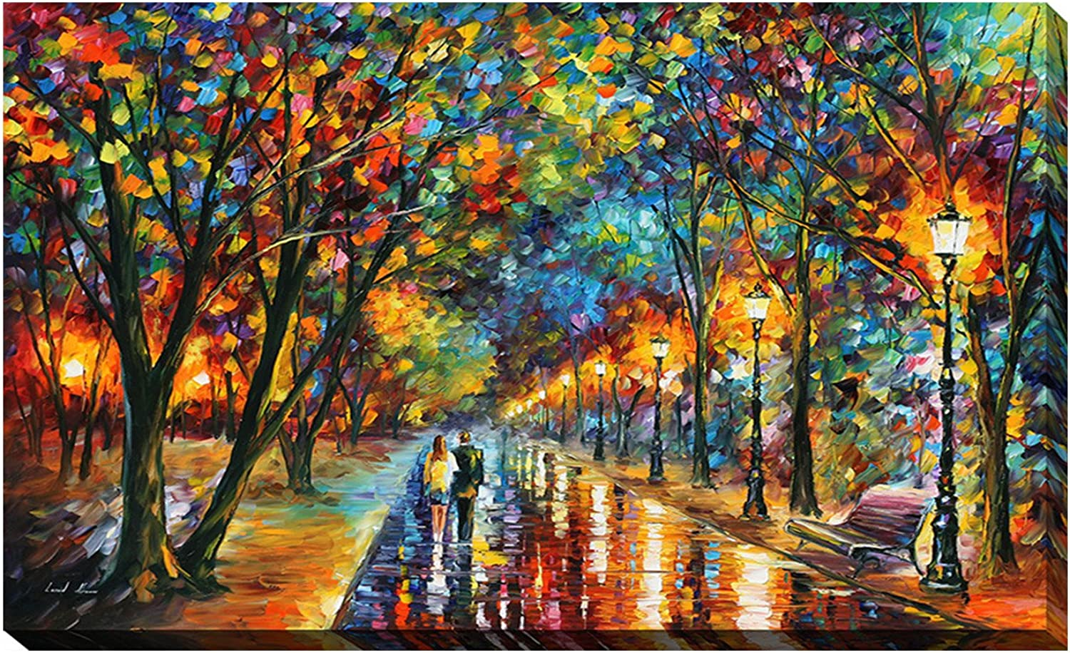Picture Perfect International Giclee Stretched Wall Art by Leonid Afremov When The Dreams Came True Artists-Canvas, 18  x 30  x 1