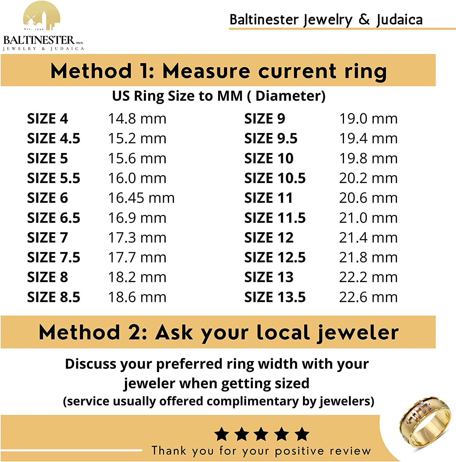 Handmade Ani Ledodi Cut Out Hebrew Letters Wedding Band Ring in 14k Yellow Gold Size 4 to 13.5 by Baltinester Jewelry