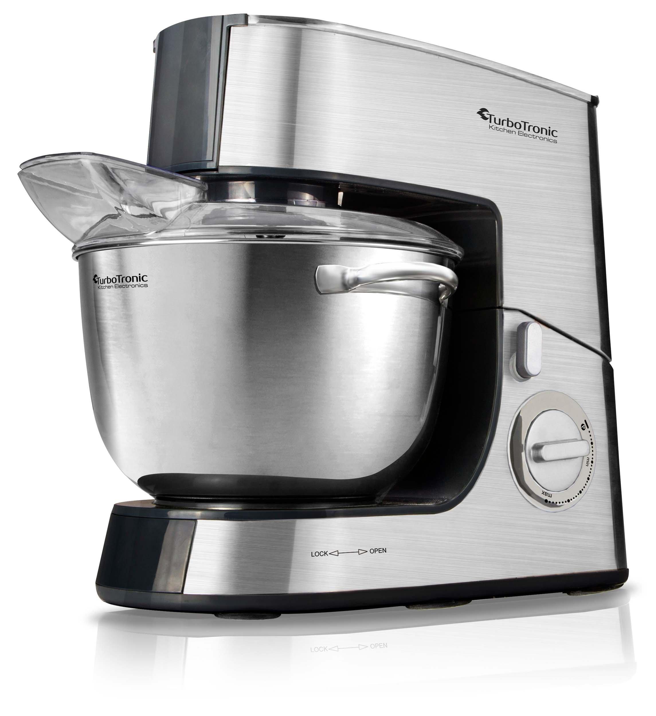 2000 W acero inoxidable robot de cocina 2,7 PS/6,5 l para mezclar y espirales Máquina de amasadora de masa: Amazon.es: Hogar