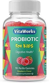 VitaWorks Probiotics for Kids – Great Tasting Natural Flavor Gummy – Gluten Free Vegetarian GMO-Free Probiotic – for Gut H...