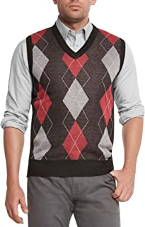 Men's Argyle V-Neck Sweater Vest