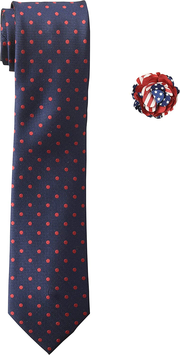 Land of Liberty Men's American Flag Ties & Bowties, Navy, One Size
