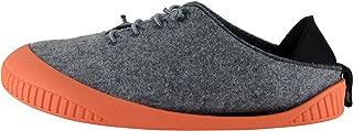 Dualyz Unisex Fit Wool Slipper, Light Grey/Salmon, Womens US 6
