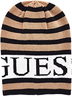 Guess Luxury Fashion Womens AW8209WOL01BLACK Beige Hat | Fall Winter 19