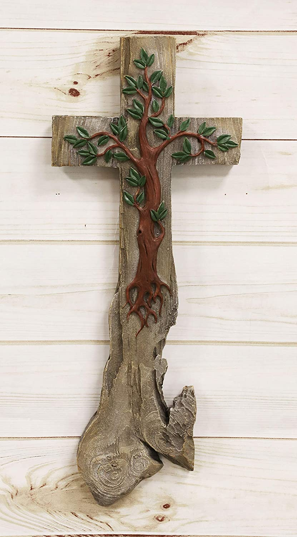 Ebros Inspirational Rustic Celtic Tree Life Cros Of 35% Nashville-Davidson Mall OFF Calvary Wall