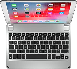 Brydge 10.5 Keyboard for iPad Air (2019) and iPad Pro 10.5-inch | Aluminum Bluetooth Keyboard with Backlit Keys (Silver)