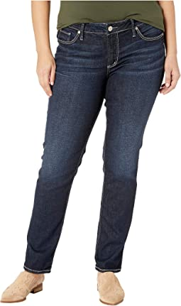 Plus Size Elyse Mid-Rise Curvy Fit Straight Leg Jeans in Indigo