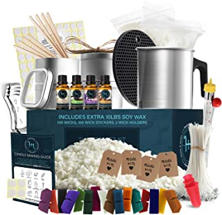 Hearth & Harbor DIY Candle Making Kit for Adults and Kids, Candle Making Supplies, 12 Lbs. Soy Candle Wax Flakes, Complete...