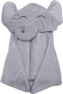 حوله حمام نوزاد بامبو YOYOO - حوله فوق العاده نرم ارگانیک ضد حساسیت کودک برای نوزادان - فیل کوچک خاکستری زیبا و ضروری تازه متولد شده - هدایای ثبت نام کامل نوزاد برای دختران پسر
