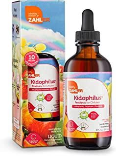 Zahler Kidophilus Liquid, Advanced Kids Probiotic, Liquid Probiotics for Kids, Great Tasting Kids Probiotics Drops, 4OZ