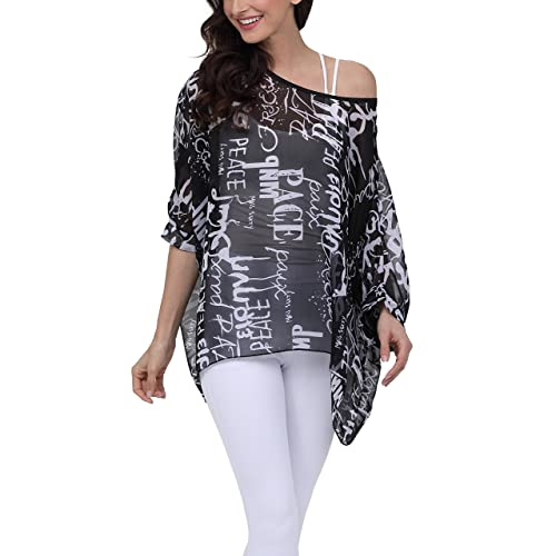 4ed9e7afe1169 iNewbetter Womens Floral Batwing Sleeve Beach Loose Blouse Tunic Tops