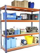 Racking Solutions - Estantería / Estante del garaje/ Sistema de almacenamiento de acero, cargas pesadas, capacidad de carga total 1600kg (4 niveles 1800mm Al x 1800mm An x 600mm Pr) + Envío gratis