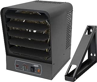 KING GH2407TB 240 Volt 7,500 Watt Garage Heater with Bracket and Thermostat, 7,500-Watt, Gray