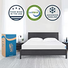 Sleep Innovations Memory Foam Mattress, Bed in a Box, Made in The USA, 20-Year Warranty, Queen
