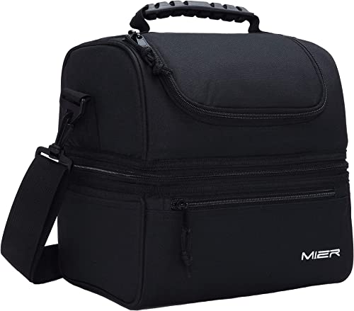 MIER-Adult-Lunch-Box-Insulated-Lunch-Bag-Large-Cooler-Tote-Bag-for-Men
