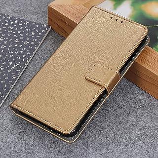 Hoesje voor HTC Desire 20 Pro, HTC Desire 20 Pro Wallet, Magneet Flip Case voor HTC Desire 20 Pro Hoesje, Goud