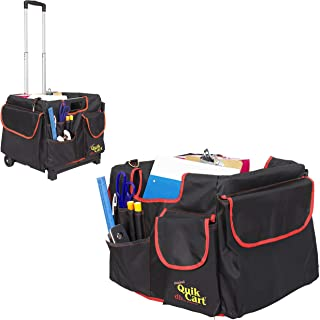 dbest products Quik Cart Pockets Bundle Caddy Organizer Teacher Tote Rolling Crate Mobile..