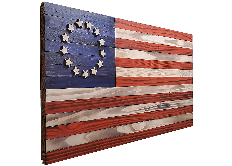 在庫限り American Betsy Ross Wood Flag 36