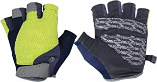 SCAVOR Mountain MTB Bike Gloves - Biking Cycle Fingerless Half Finger Gloves for Men Women Kids with Shock-Absorbing Foam Pad - Perfect BMX Fishing Hunting Riding with Breathable Mesh Fabric