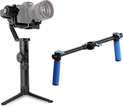 Zhiyun Crane 2 (Dshot dual handle Grip + 6pcs batteries) 3 axis Handheld Gimbal with Follow Focus 3.2kg Payload OLED Display for Canon 5D2, 5D3, 5D4, GH3, GH4, Nikon Sony DSLR Camera