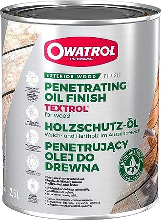 OWATROL Textrol – 2,5 l – incoloro – Saturador de madera para exteriores a base de aceite vegetal natural para casas de madera, vallas, casetas de ...