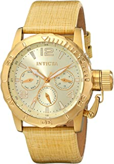 Invicta Women's INVICTA-14797 Corduba Analog Display Swiss Quartz Beige Watch